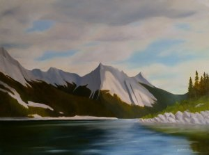 Medicine Lake Afternoon | 30x40 oil on gallery wrapped canvas