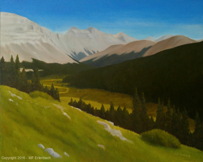 Ice Fields Parkway from Wilcox Pass   24x30 oil on gallery wrapped canvas