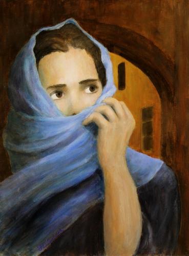 Mary Magdalene |16x12 acrylic on wood panel
