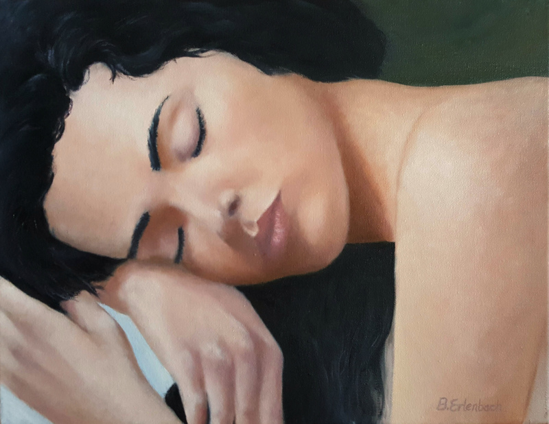 Resting | 14x18 oil on canvas