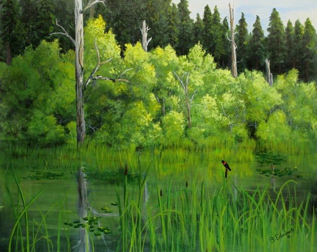 Mountain Marsh | 20x24 acrylic on canvas