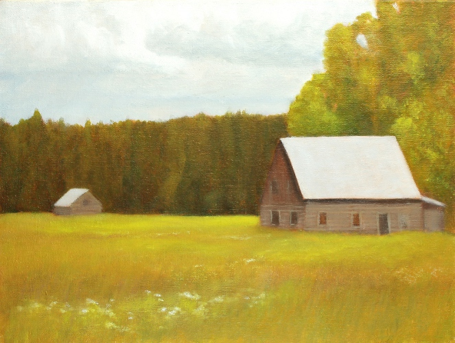Old Farm In The Christian Valley | 12x16 oil on canvas on wood panel