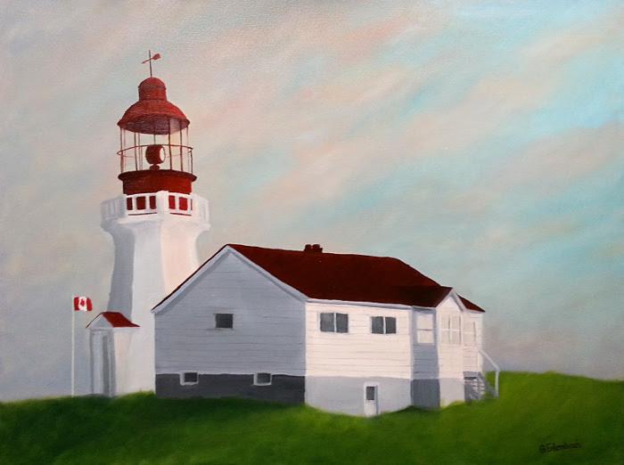 Carmanah Light | 18x24 oil on gallery wrap canvas