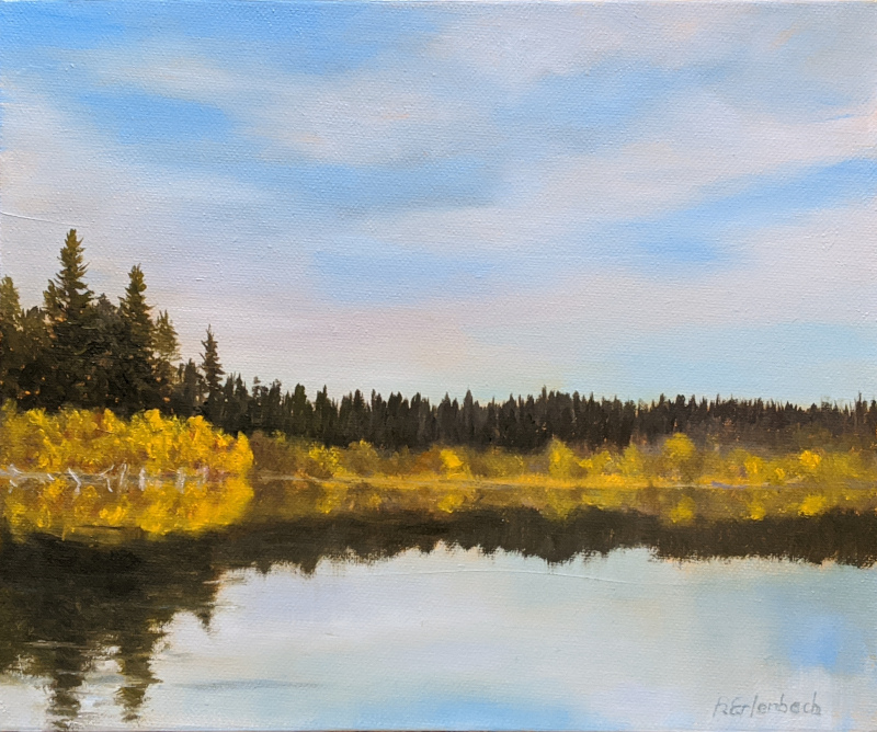 McConnell Lake Fall | 10x12 oil on canvas