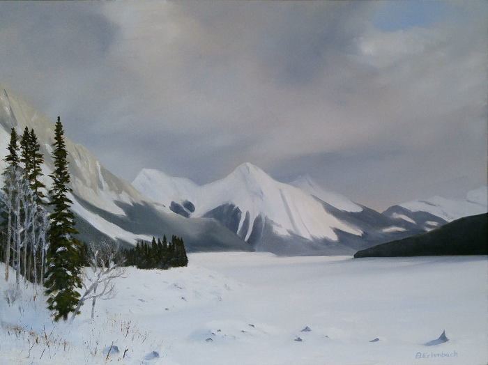 Medicine Lake Winter | 18x24 oil on gallery wrapped canvas