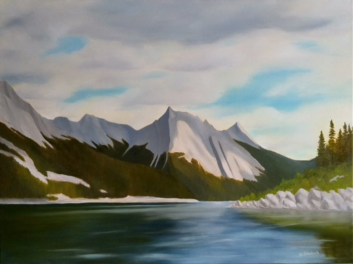 Medicine Lake Afternoon   30x40 oil on gallery wrapped canvas
