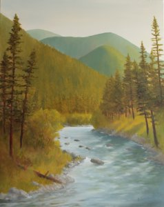 Rock Creek | 24x30 oil on canvas
