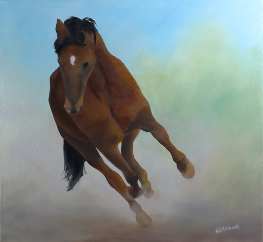 Running Free | 22x24 oil on canvas